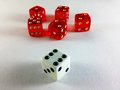 Dice Multiple Red single White Royalty Free Stock Photo