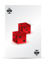 Dice playing cards Stock Image