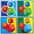 Dice in retro style Royalty Free Stock Photo