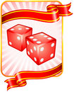 Dice with Ribbon Background Royalty Free Stock Photo