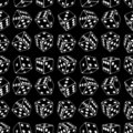 Dice seamless background pattern Royalty Free Stock Photo