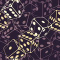 Dice seamless background pattern Stock Image