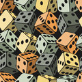 Dice seamless background pattern vector illustration Royalty Free Stock Image
