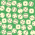 Dice Seamless Pattern. Gambling Texture