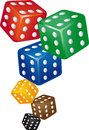 Dice six points Stock Photos