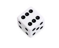 Dice white isolated on white background Royalty Free Stock Images