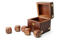 Dice wooden set Royalty Free Stock Photo