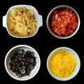 Diced Black Olives in Bowl Royalty Free Stock Photo