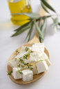 Diced feta cheese Royalty Free Stock Images