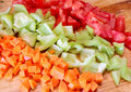 Diced fresh vegetables Royalty Free Stock Photos