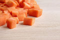 Diced raw carrots Stock Photos