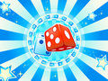 Dices casino background Stock Photos