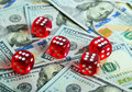 Dices Casino background dollar Royalty Free Stock Photo