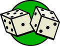 Dices gambling luck game vector illustration Royalty Free Stock Photo
