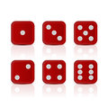 Dices for gameswith all the numbers. Royalty Free Stock Photo