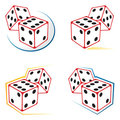 Dices icons Stock Image