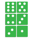 Dices illustration on white Royalty Free Stock Photo