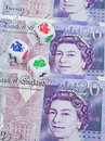 Dicing with the currency: Pound Sterling. Stock Images