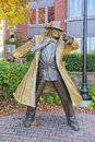 Dick Tracy Statue In Naperville Illinois Royalty Free Stock Photo