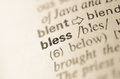 Dictionary definition of word bless in Royalty Free Stock Photos
