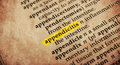 Dictionary word appendicitis in old textured Royalty Free Stock Photo