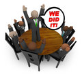 We Did It - Business Team Meeting Royalty Free Stock Photo