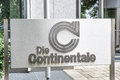Die continentale sign infront of the german insurance offices in munich Royalty Free Stock Image