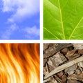 Die grundlegenden Elemente Stockfoto