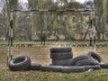 Die Stadt der Poltavaautumn Kindheit Lizenzfreie Stockfotos