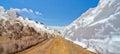 Die straße die zu den animas gabeln eine geisterstadt in san juan mountains von colorado führt Stockbilder
