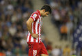 Diego costa of atletico madrid during a spanish league match againts rcd espanyol at the estadi cornella on october in barcelona Royalty Free Stock Photography