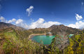 Dieng plateau jawa indonesia telaga wama lake big panorama landscape Royalty Free Stock Photography