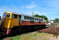 The diesel electric locomotive Stock Photo