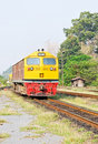 Diesel electric  locomotive Stock Photos