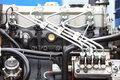 Diesel engine detail supply system for fuel clean motor block Royalty Free Stock Image