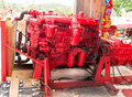 Diesel engine engines used in heavy goods transport services Royalty Free Stock Photos