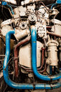 Diesel engine train new in the workshop Royalty Free Stock Photo
