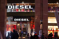 Diesel fashion shop in the quadrilatero doro rectangle of gold district in milan italy Royalty Free Stock Image