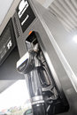 Diesel fuel dispenser at the gas station Stock Images