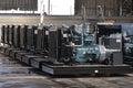 Diesel generators big at the plant Stock Images