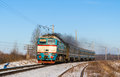 Diesel local train ukraine Stock Photography