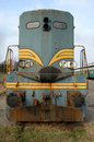 Diesel locomotive old american deserted Stock Image
