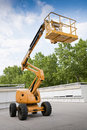 Diesel Powered Articulating Boom Lift Royalty Free Stock Photo