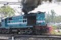 Diesel Train Engine Royalty Free Stock Photo