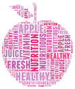 Diet apple info-text Royalty Free Stock Photo