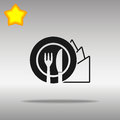 Diet black Icon button logo symbol