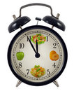 Diet clock concept Royalty Free Stock Photo