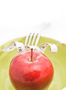 Diet concept food apples in a bowl fruit for Royalty Free Stock Images