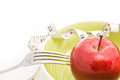 Diet concept food apples in a bowl fruit for Royalty Free Stock Photos