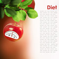 Diet concept red apple Royalty Free Stock Image
